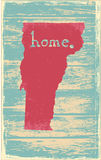 Vermont nostalgic rustic vintage state vector sign Stock Images
