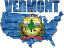 Vermont på en tegelstenvägg Arkivbilder