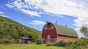 Vermont Red Barn. A beautiful red barn in the state of Vermont Royalty Free Stock Images