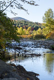 Vermont river at Autumn royalty free stock photo