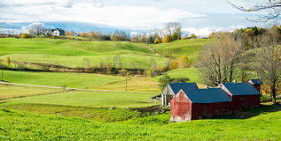 Vermont Scenic Farm Land Royalty Free Stock Images