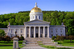 Vermont State Capitol Building in Montpelier Royalty Free Stock Images