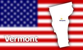 Vermont state contour Stock Image