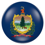 Vermont State flag button Royalty Free Stock Photo
