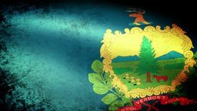Vermont State Flag Waving, grunge look. Vermont State Flag Waving grunge look, video footage stock video