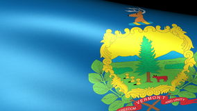 Vermont State Flag Waving. Video footage stock video footage