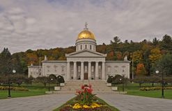 The Vermont State House in Montpelier, Vermont, USA stock photography