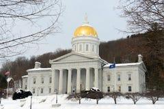 Vermont State House, Montpelier. Vermont State House in winter, Montpelier, Vermont, USA Stock Photos