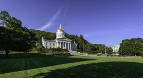 Vermont State House. Panoramic of the Vermont State House at 115 State Street in Montpelier, Vermont on August 2, 2015 Royalty Free Stock Image