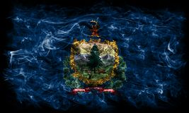 Vermont state smoke flag, United States Of America.  Royalty Free Stock Photo