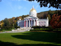 Vermont Statehouse. Vermont's Statehouse decked out for its 200th anniversary Stock Photo