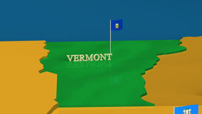 Vermont - United States Series with flags Royalty Free Stock Photos