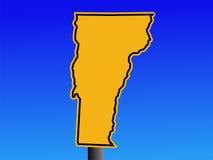 Vermont warning sign Stock Photo