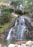 Vermont Waterfall in Autumn. Moss Glen Falls, Granville Vermont in October Stock Images