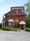 Vermont Wildflower Farm. Is a local and tourists landmark for it's walking paths among the flowers and ferns and buying seeds and bulbs. They were established Stock Images