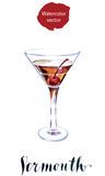 Vermouth with cherry Royalty Free Stock Photo