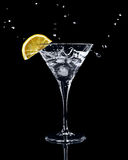 Vermouth cocktail in martini glass Royalty Free Stock Photo