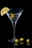 Vermouth cocktail in martini glass Royalty Free Stock Images