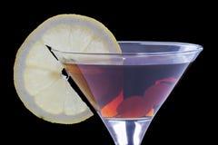 Vermouth et citron photos stock