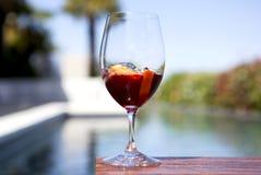 Vermouth par la piscine photo libre de droits