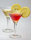 Vermouth rosso and white Stock Images