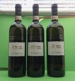 Vernaccia wine bottles Royalty Free Stock Photo