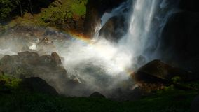 Vernal Fall and rainbow in Yosemite Park Royalty Free Stock Photos