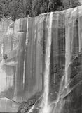 Vernal Fall in Yosemite National Park. A graphic view of a spectacular waterfall in Yosemite National Park Stock Photo