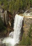 Vernal Falls From Above. View of Vernal Falls in its full spring glory as seen from Clark Point on the John Muir Trail in Yosemite National Park, California Royalty Free Stock Photography