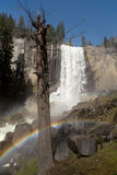 Vernal Falls with rainbow Stock Images