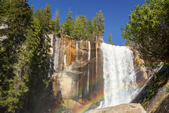 Vernal falls rainbow Royalty Free Stock Images