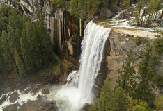 Vernal Falls seen from Clark Point Royalty Free Stock Photography