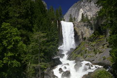 Vernal Falls Waterfall. In Yosemite National Park Royalty Free Stock Photo