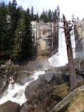 Vernal Falls With Rainbow - Waterfall In Yosemite National Park, Sierra Nevada, California Stock Photos