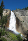 Vernal Falls, Yosemite. Spectacular view from Mist Trail on the way to Half Dome, Yosemite National Park Stock Photo