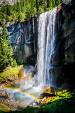 Vernal Falls Yosemite CA. Vernal Fall is a 317-foot waterfall on the Merced River just downstream of Nevada Fall in Yosemite National Park, California. Vernal Royalty Free Stock Photography