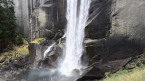 Vernal Falls at Yosemite National Park stock video footage
