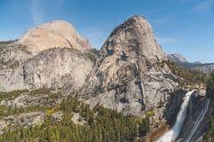 Vernal and Nevada Falls: Yosemite`s Premier `Secret` Destination for Foreigners stock image