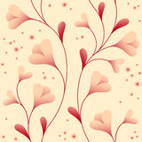 Vernal seamless pattern. Light wallpaper with elegant gentle flowers Stock Illustration