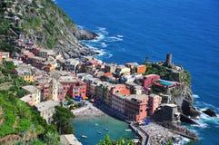 Vernazza美丽的景色 库存照片