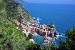 Vernazza美丽的景色 库存图片