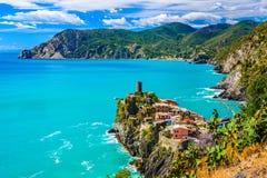 Vernazza, Cinque Terre意大利 免版税库存照片