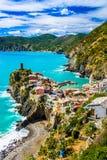 Vernazza, Cinque Terre意大利 图库摄影