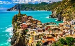 Vernazza, Cinque Terre意大利 免版税库存图片
