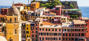Vernazza, Cinque Terre,意大利III 免版税库存图片