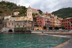Vernazza στο Cinque Terre, Ιταλία στοκ εικόνες με δικαίωμα ελεύθερης χρήσης