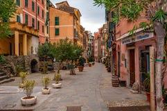 Vernazza в Cinque Terre, Италии стоковая фотография rf