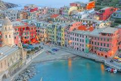 vernazza Италии Стоковое Изображение RF