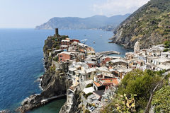 vernazza Италии Стоковое Фото