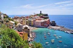 vernazza Италии стоковое изображение